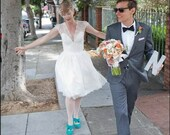 Vintage Inspired Guipure Lace Wedding Dress