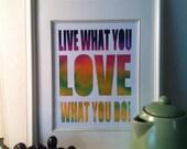 Inspirational quote print, Love Teacher Gift Ideas,Typography poster, Retro, Vintage style, Motivational print,kitchen art print