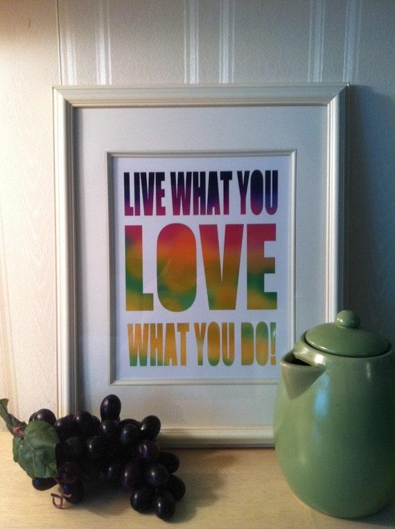 Inspiration kitchen, Inspirational quote print,Typography poster, Retro, Vintage style, Motivational print,kitchen art print