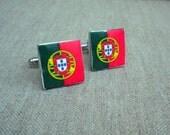 Portugal Portuguese Flag CUFFLINKS, 17mm Portuguese Heritage Luso American Portugues