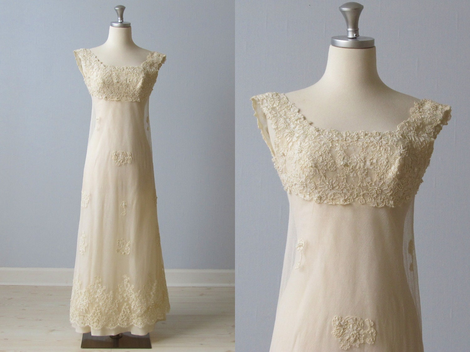 1960s wedding dress 60s bridal gown lace sheath blush