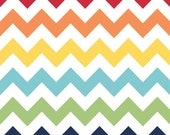 WINTER SALE - FLANNEL Medium Chevron Stripe in Rainbow - 1 Yard - F320-01 - Riley Blake Designs