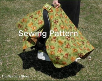 SPRING SALE - Pattern for Infant Car Seat Canopy-Tent-Cover, PDF Pattern