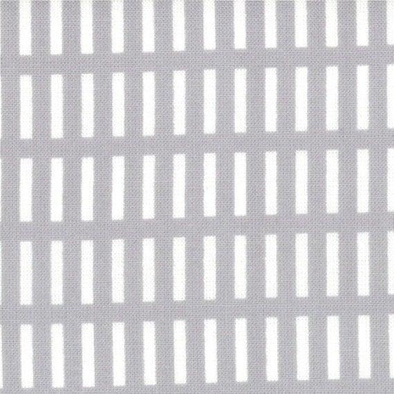 Walk in the Woods - Dash Stripes in Cloud Grey  - SKU 18526 13 - by Aneela Hoey for Moda Fabrics - 1 Yard