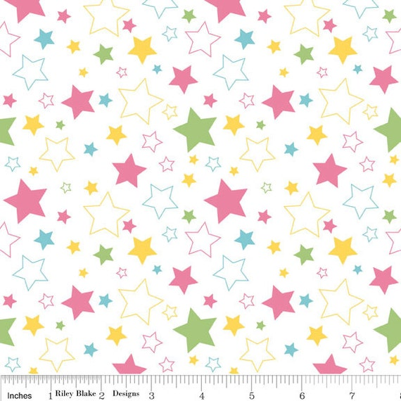 Stars in Girl - 1 Yard -  SKU C410 03 - by Riley Blake Designs