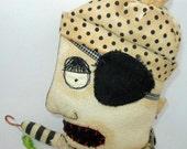 Pirate handmade cloth doll
