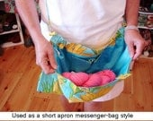 CUSTOM SPOONFLOWER KNITTING Bag Apron - Choose Any Spoonflower Kona Cotton Fabric - Please allow 4 weeks for delivery