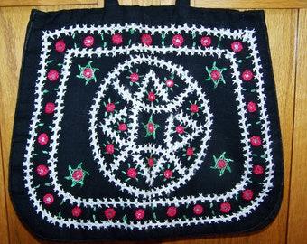 SALE, Embroidered Bag, Boho Bag, Embroidered Tote, Boho Tote, Market bag, Soft bag, SALE BAG