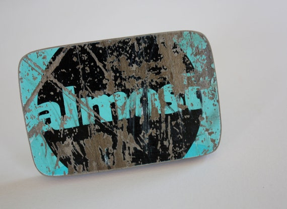 Recycled Skateboard Belt Buckle-Almost
