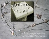 Beautiful Elven inspired Bridal Circlet with .925 Sterling Silver & Swarvoski crystals Heirloom charm- meant to cut and be warn later.