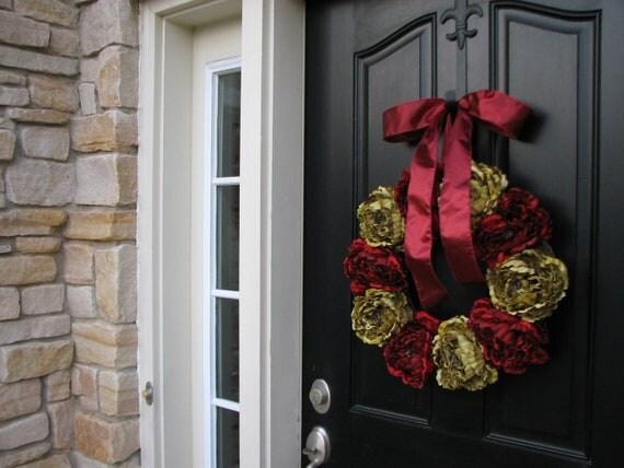 Items Similar To Wreath Holiday Wreaths Christmas Decor
