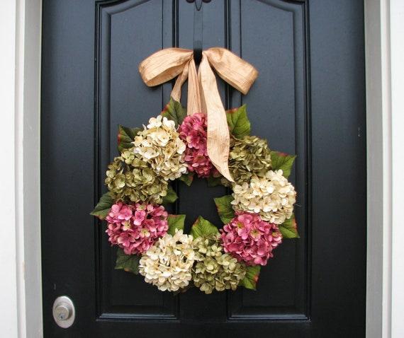 Reserved Spring Wreaths Hydrangea Wreath Spring
