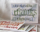 Psalms of Thanks Watercolor Notecards PRINTED TO ORDER