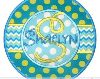Circle STRIPE FRAME Applique 4x4 5x7 6x10 7x11 Machine Embroidery design  INSTANT Download