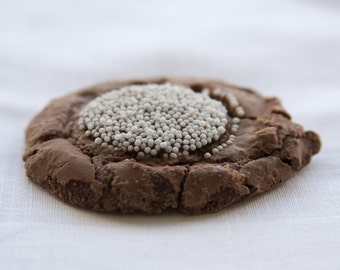 Snow Capped Chocolate Fudge Brownie Cookies - 2 dozen