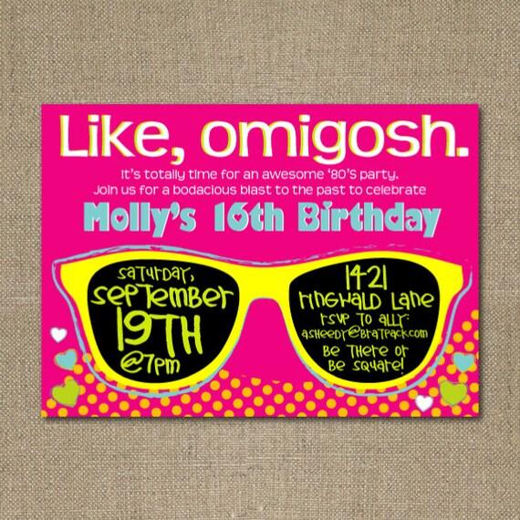 Neon Party Invitation for adorable invitations design