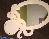 RESERVED LISTING - octopus mini mirror in ivory