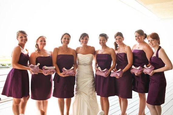 Handmade Silk Bridesmaid Clutch Purses, Wedding Clutch, Personalized Bridesmaids Gifts, Bride Bridal Clutch Purse, Wedding Accessory