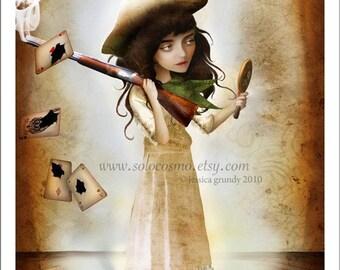 The Little Sharpshooter Annie Oakley Small 5x7 Giclee Fine Art Print