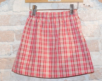 European Plaid Modern A-line Skirt - modern toddler girls clothing - kids fall fashion - made to order - sizes 2T 3T 4 5 6 7 8