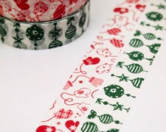 SALE = decoparts - washi paper masking tape - christmas - single tape