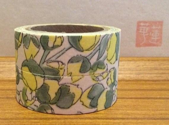 liberty of london tana lawn- fabric tape - set of 2 -Eliza - yellow