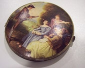 Vintage mirror with lovely old world picture