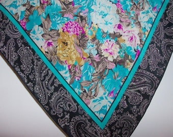 Floral and Paisley Albert Nipon Designer Scarf