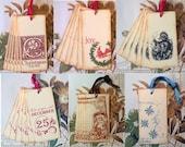 Tags Christmas Gift Tags - Sampler Set Gift Tags - Vintage Style (Set 1)