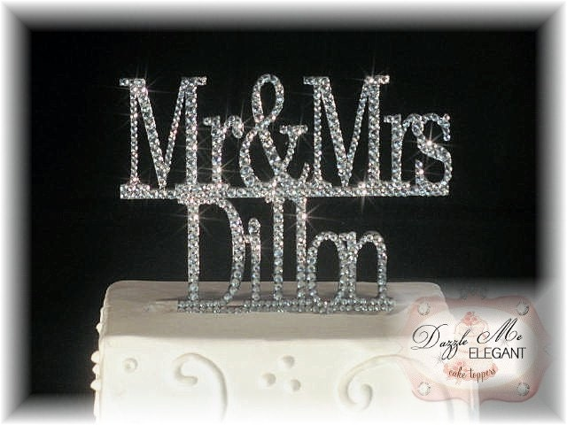 initials wedding cake toppers
