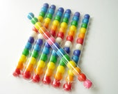 "1""x8"" Clear Candy Treat Bags - Set of 25 - Skinny Treat Bags - Gumball Bags"