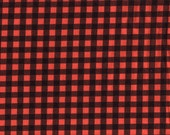 Halloween cotton lycra knit check fabric