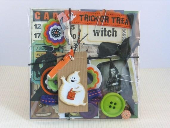Halloween Inspiration Kit - Embellishments For Scrapbooking / Journals