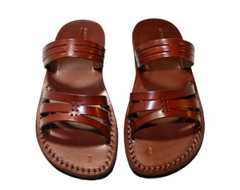 Brown Sting Leather Sandals for Men & Women