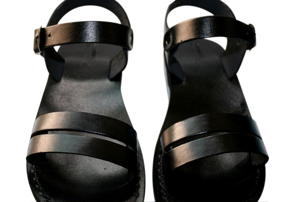 Black Hammer Leather Sandals for Men & Women