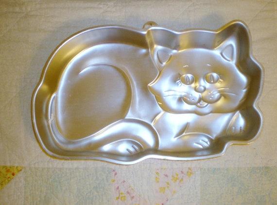 Vintage Kitty Cat Wilton Cake Pan 1987 Model 2105 1009 Baking