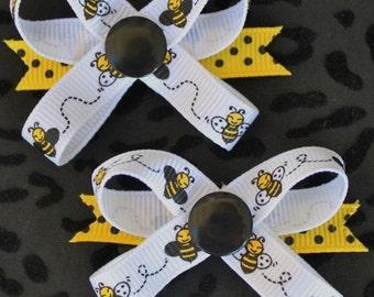 Buzz Bee Snap N Go Dog Hair Bows - Set of 2 or Custom Single