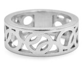 MADE TO ORDER Sterling Silver Circle Ring