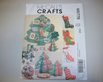 New McCall's Christmas Decorations Pattern M5778 (Free US Shipping)