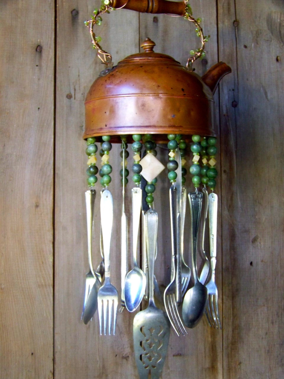 copper tea pot windchime. Black Bedroom Furniture Sets. Home Design Ideas