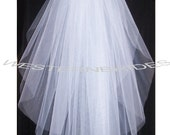 Brand New  2 tier Classic style veil .elbow  lenght with silver comb ready to wear