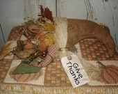 Primitive Thanksgiving Fall Cornucopia Give Thanks