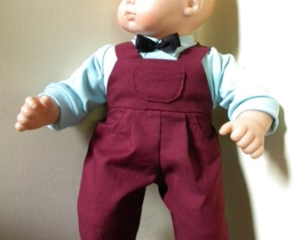 Overalls and shirt for 15 inch boy doll