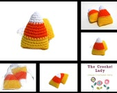 Candy Corn, Crocheted, Bowl Fillers, Soft Sculpture, Sugar Free