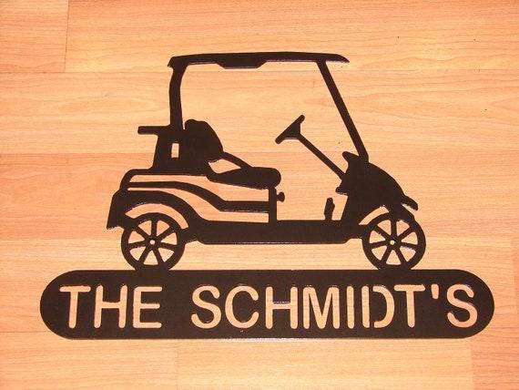 Metal Golf Wall Decor : Golf cart personalized metal wall plaque garage decor summer