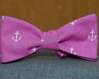 Anchors on Fuschia  Bow tie