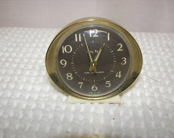 Vintage Westclox Baby Ben Alarm Clock White with Gold Trim