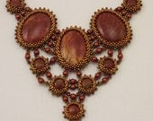 Amur Maple Cherry Creek Jasper Beadwoven Necklace