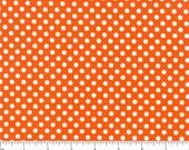 Lots of Dots Tangerine Orange Spotty Dot Polka Dots Cotton FABRIC - 1 Yard