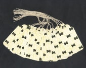 CLEARANCE SALE 50 Off - Dog Bones Treats Large Scallop Die Cut Gift Hang Tags (12) Priced As Marked